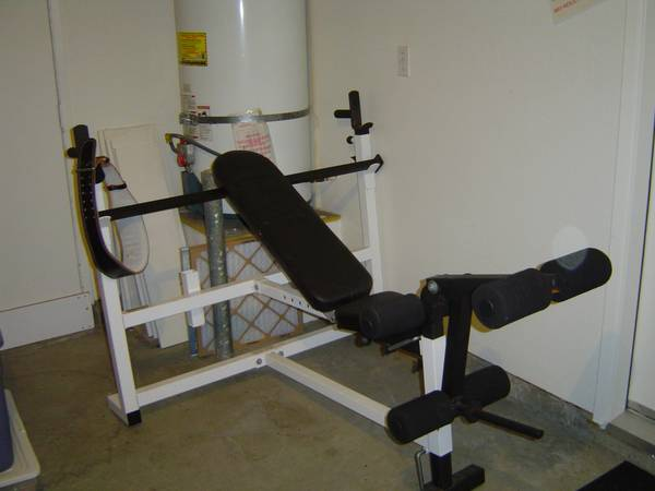 Parabody Olympic Serious Steel Weight Bench 300 lb Weight Set - $300 (EASTLAKE)