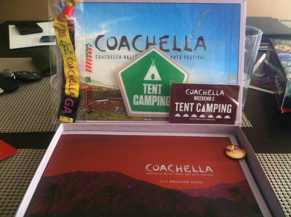 ONE Coachella WEEKEND 2 Ticket Cing Pass - $450 (La Jolla)