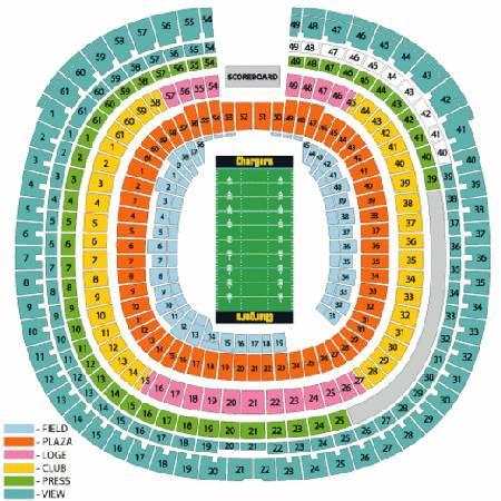 2013 San Diego Chargers Tickets - $22 (Qualcomm Stadium)