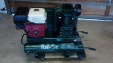 RolAir 8422HK30 8hp Belt Driven Compressor, Twin Tanks K30 Pump - $850 (Fallbrook)