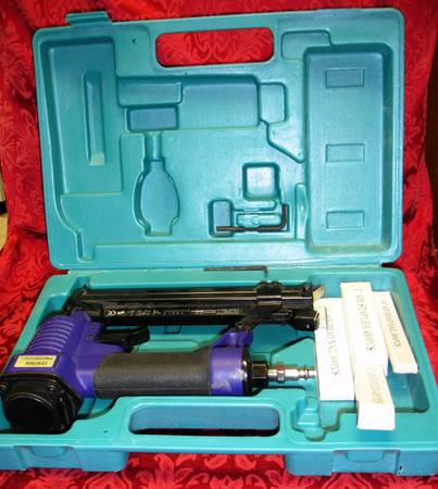 Air Nailer Stapler Central Pneumatic in case with nails - $39 (La Jolla UTC)