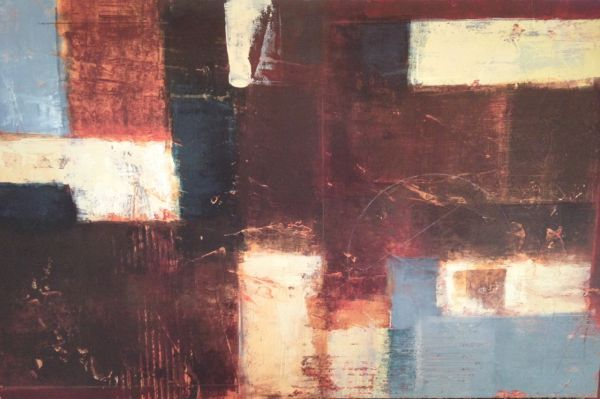 BEAUTIFUL ABSTRACT CANVAS BY JANE BELLOWS WITH CERTIFICATION - $100 (SAN MARCOS)