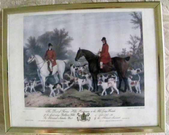 Richard Barrett Davis print with Engraver J.W.Giles (The Huntsman) - $100 (Santee)