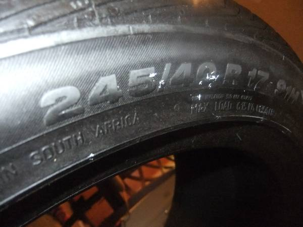 Low Profile Tire 2454017 1 Tire - $50 (EL CAJON)