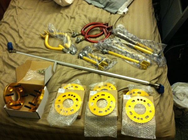 240sx S13 control arms, alpine,  and bazooka sub - $1 (Chula Vista)
