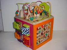 B Zany Zoo Wooden Activity Cube (Carlsbad)