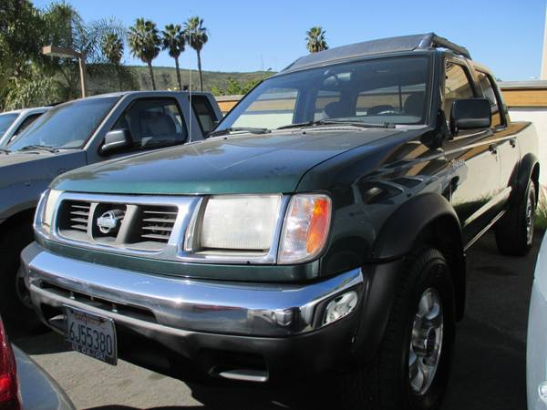 2000 Nissan Frontier Crew Cab XE (Your choice of tire-rims) - $7995 (Mission Gorge Rd.)