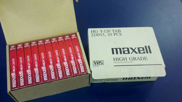 Maxell blank VHS tapes - usdewaste - $5 (San Diego)