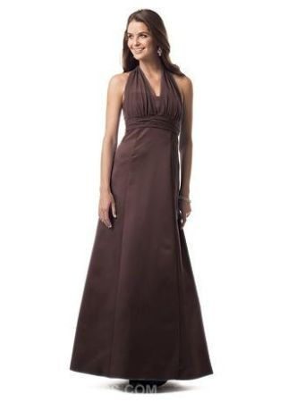 Satin Empire Ball Gown with Illusion Halter St - $80 (San Diego)