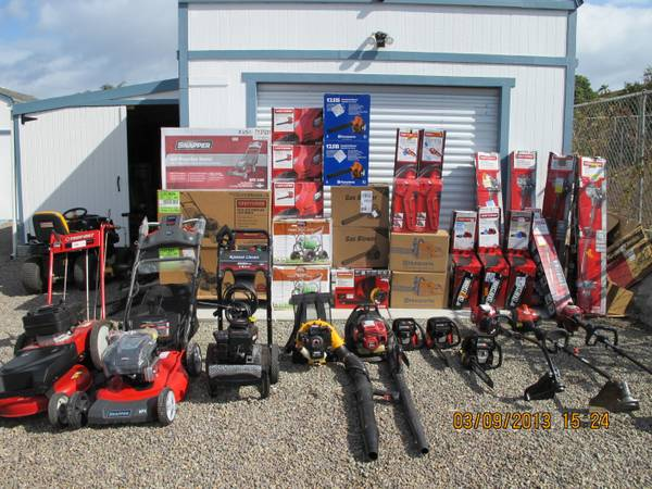NEW- Weedwackers, Blowers, Trimmers, Hedgers, Lawn Mowers, Chainsaws (San Marcos)