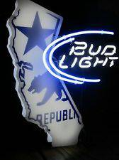 RARE Bud Light Neon Sign wCalifornia Republic Bear - $250 (La Mesa)