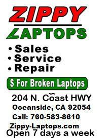 WE BUY accept TRADE-INs on BROKEN LAPTOPS - $20 (downtown Oceanside)