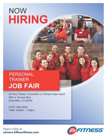 24 Hour Fitness Personal Trainer Job Fair (North San Diego Locations)