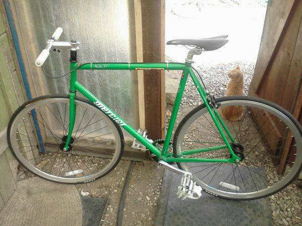 NEW MERCIER KILO TT FIXIE (FIXED GEAR) 57 CM GREEN - $325 (Santa Barbara)