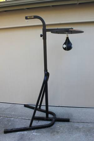 TKO Deluxe Heavy Punching Kick Bag Stand plus Speed Bag Stand Set - $85 (Santa Barbara)