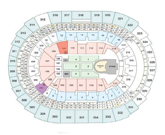 THE ROLLING STONES TICKETS - $730 (STAPLES CENTER )