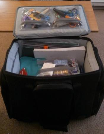 HUGE Rolling Scrapbook Supply Bag FULLY stuffed with supplies - $200 (Goleta)