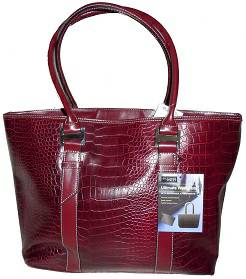 Women Handbags Red Croc Ultimate Work Tote Brief case - $18 (SB SAN ROQUE)