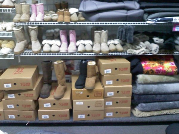Sheepskin Boots and Slippers - $59 (Hollister next to The Habit)