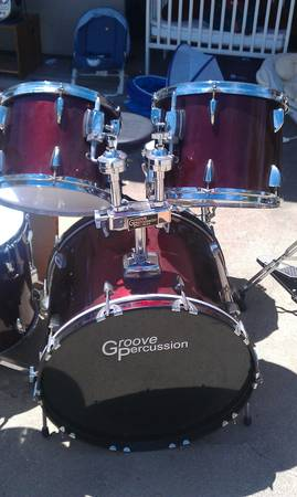 Groove Percussion Drum Set with Stool and Assessories - $200 (Lompoc Glen Ellen)