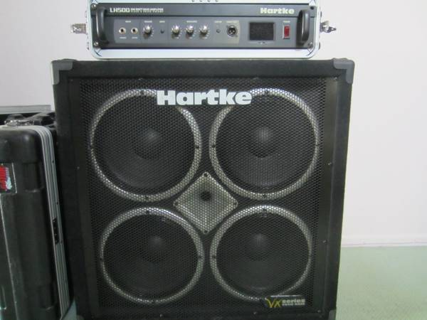 Hartke BASS AMP Stack - VX410 Cabinet LH500 Bass Head VERY LOUD - $599 (Santa Barbara SLO)