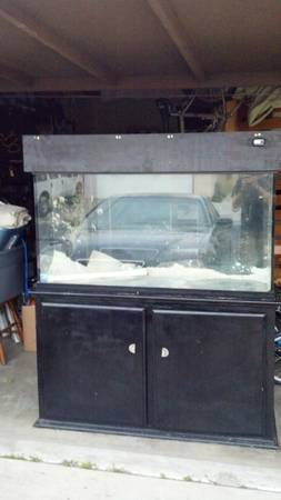 90 gallon glass aquarium with sump, stand and canopy - $180 (sm-slo)