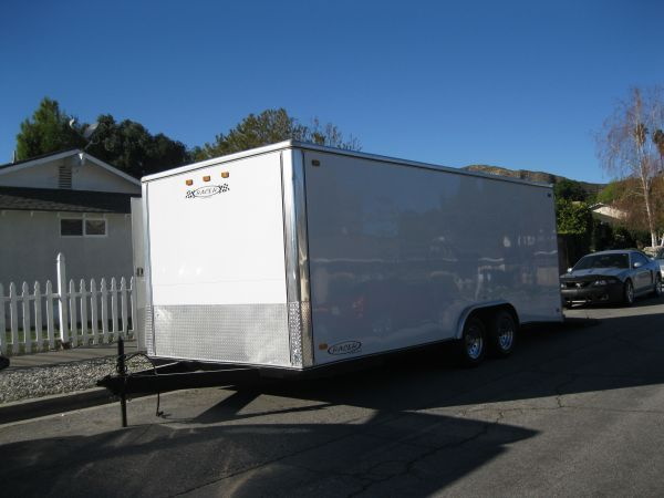 2006 20 Carson Racer Deluxe enclosed tandem trailer - $7500 (Orcutt)
