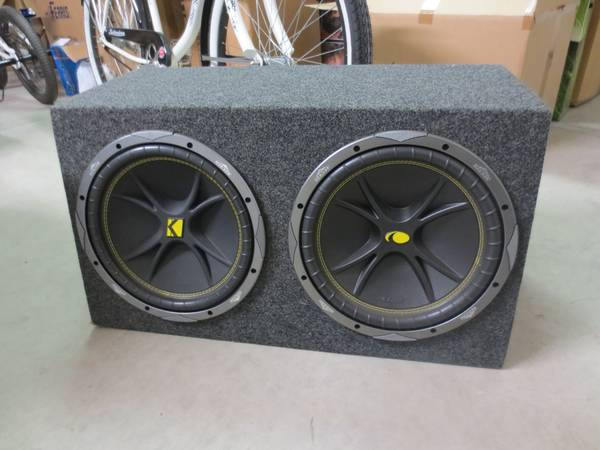 2, 12 Inch Kicker Comp Subs in very nice clean sturdy box - $150 (Vandenberg AFB)