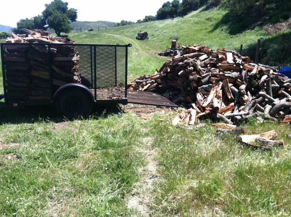 Red Oak Wood Ready To Burn (Santa Maria Area)