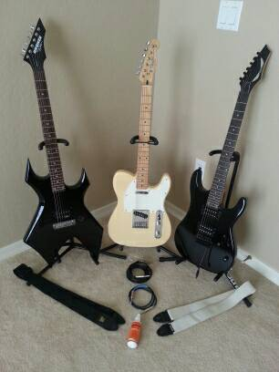 DEAN, 2 WARLOCKS, AND FENDER TELE - $1 (SURPRISE)