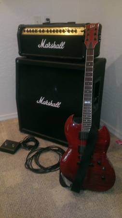 Electric GuitarAmp - Marshall Valvstate VS100 ESP LTD VIPER 200-FM - $300 (EAGAR)