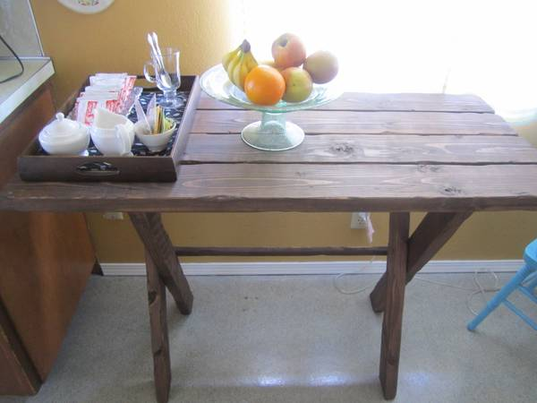 Rustic Wooden Table - $75 (Templeton)