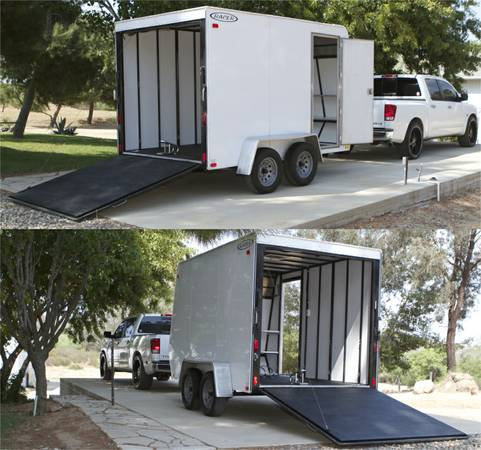 CARSON racer 7x12x7 Enclosed Trailer - $4000