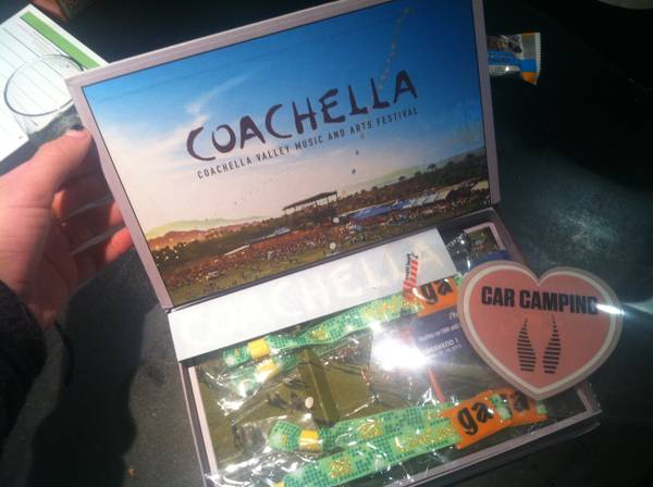 TWO COACHELLA WEEKEND 1 TICKETS AND CAR CAMPING PASS PACKAGE - $1200 (San Luis Obispo)