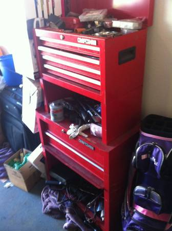 Craftsman tool boxes, air compressor and tools - $100 (SLO)
