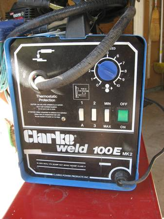 CLARKE MIG WELDER WGAS AND GUAGES-110 VOLT - $225 (SANTA MARGARITA)