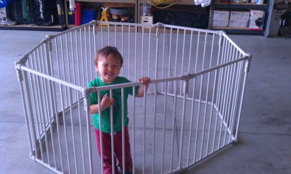 North State - 3-in-1 Metal Superyard Portable Playard Gate 8 piece - $99 (United States)