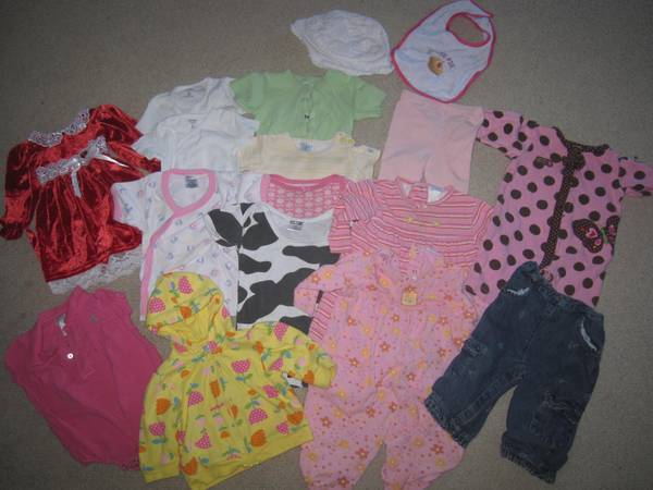 Girls Clothing 0-9 mon - $1 (Paso-SLO)