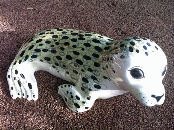 Rare Anne Townsend Art Pottery Seal signed date 1971 - $10 (Arroyo Grande)