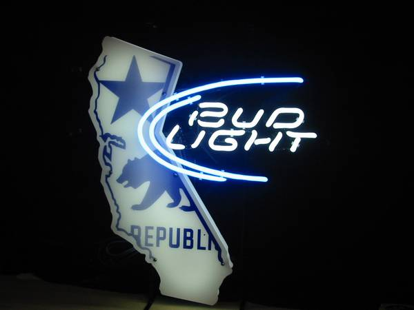neon beer signs bud budweiser ca calif california republic - $175 (Oxnard Calif 93035 )