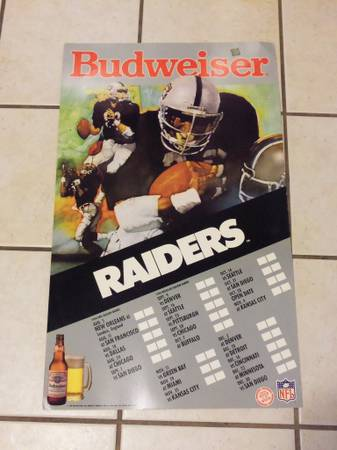 Rare Oakland Raiders Budweiser large store display must see - $25 (atascadero)