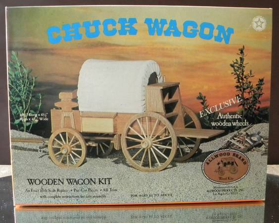 Chuck Wagon - Wooden Wagon Kit - $2 (Los Osos)