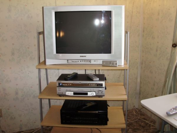 tv, dvd, vcr, receiver and stand stand - $250 (Arroyo Grande)