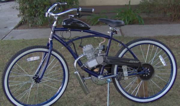 GAS POWERED MOTORIZED CRUISER BICYCLE-BRAND NEW - $510 (N. Stockton (West Ln Hammer Ln area))