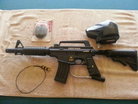 US ARMY ALPHA BLACK W E-GRIP - $300 (Tracy, CA)