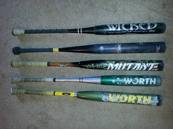 Worth Miken Softball bats - $70 (Tracy)