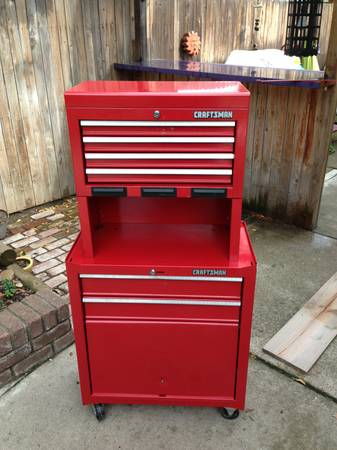 Craftsman top and bottom rolling tool chest - $125 (Stockton)