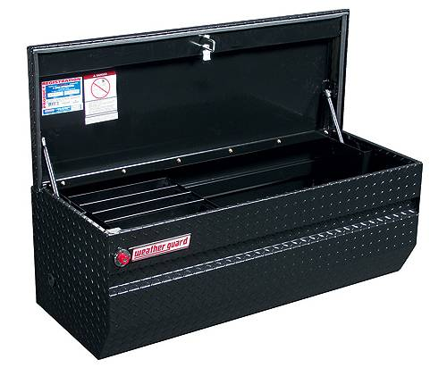 Weather Guard 5 Black Diamond Plate Truck Tool Bed Tool Box - $325 (Tracy)