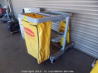 Rubbermaid commercial janitorial cart - $5 (stockton)
