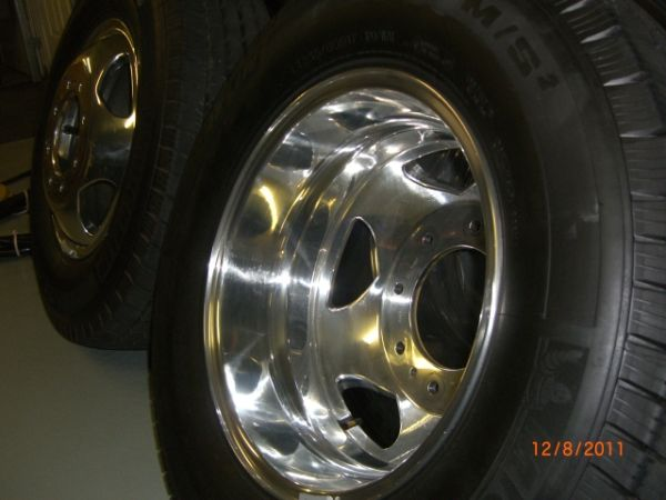 New Polished Forged Aluminum Dually Wheels - $800 (Valley Springs)